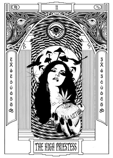High Priestess Full Colorful Deck Major Stock Illustration: More Tarot Tuesday: The Occult Detective & The High